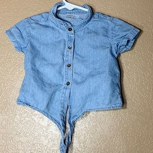 Carters toddler girl chambray button down shirt